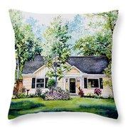Houston House Portrait Throw Pillow