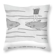 How About Some Help Throw Pillow