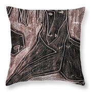 How The Camel Got His Hump Digital And Drawings D23-4 Throw Pillow