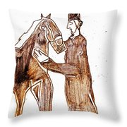 How The Camel Got His Hump Digital And Drawings D4-1 Throw Pillow