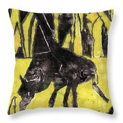 How The Leopard Got His Spots Oil Painting Otd3 Throw Pillow