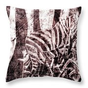 How The Leopard Got His Spots Zebra D16ed3 Throw Pillow