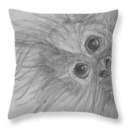 How's It Hangin'? Sketch Throw Pillow by Jani Freimann