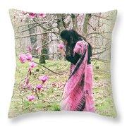 Scent Of Magnolia Throw Pillow