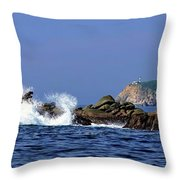 Huatulco Lighthouse Throw Pillow