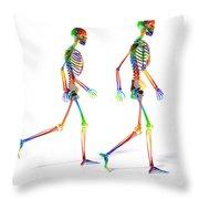 Human Skeleton Pair Throw Pillow