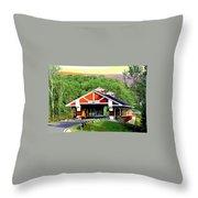 Huseston Woods Bridge Throw Pillow