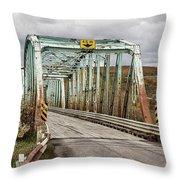 Hwy 552 Bridge Throw Pillow