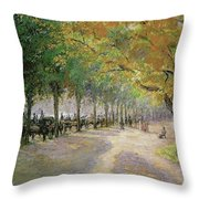 Hyde Park, London, 1890 Throw Pillow