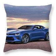 Hyper Blue Throw Pillow