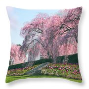 Weeping Spring Cherry  Throw Pillow