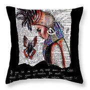 I Am A Woman Throw Pillow