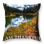 I Am Thankful Throw Pillow