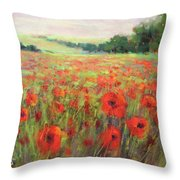 I Dream Of Poppies Throw Pillow