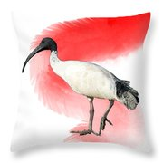 I Is For Ibis Throw Pillow