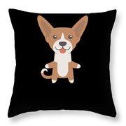 I Just Freaking Love Basenjis Cute Dog Design Throw Pillow