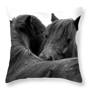 I Just Need A Hug. The Black Pony Bw Transparent Throw Pillow