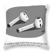 I Lie Awake In Fear Throw Pillow