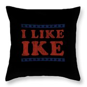 I Like Ike Throw Pillow