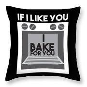 I Love Baking Bake Funny Baker Gift Throw Pillow