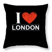 I Love London Throw Pillow