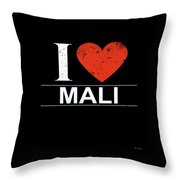 I Love Mali Throw Pillow