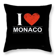 I Love Monaco Throw Pillow