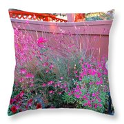 I Love My Flowers Throw Pillow