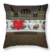 I Love Ny Throw Pillow by Brad Wenskoski