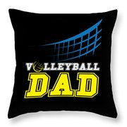 I Love Volleyball Team Player Ball Throw Pillow