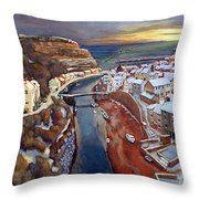 I Saw Three Ships Come Sailing In, On Christmas Day In The Morning. Throw Pillow