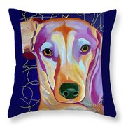 I Should Have Been Jackson Pollock's Dog Throw Pillow