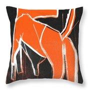 I Was Born In A Mine Orange Dog 33 Throw Pillow
