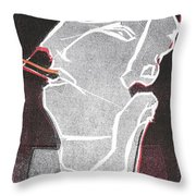 I Was Born In A Mine Woodcut 11 Throw Pillow