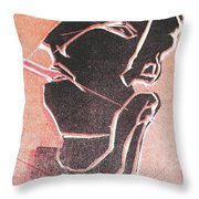 I Was Born In A Mine Woodcut 12 Throw Pillow