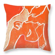 I Was Born In A Mine Woodcut 19 Throw Pillow