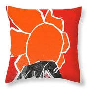 I Was Born In A Mine Woodcut 22 Throw Pillow