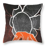 I Was Born In A Mine Woodcut 24 Throw Pillow