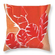 I Was Born In A Mine Woodcut 38 Throw Pillow