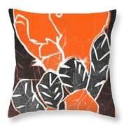I Was Born In A Mine Woodcut 42 Throw Pillow