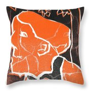 I Was Born In A Mine Woodcut 48 Throw Pillow
