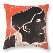I Was Born In A Mine Woodcut 49 Throw Pillow