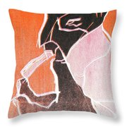 I Was Born In A Mine Woodcut 74 Throw Pillow