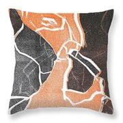 I Was Born In A Mine Woodcut 75 Throw Pillow