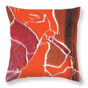 I Was Born In A Mine Woodcut 76 Throw Pillow