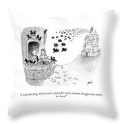 I Wish The King Throw Pillow