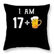 Iam 18 Throw Pillow