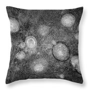 Ice Abstraction Iv Bw  Throw Pillow by David Gordon