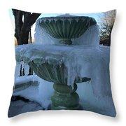 Ice Fountain Throw Pillow