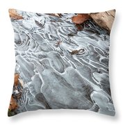 Ice Swirls Throw Pillow